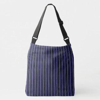 Circus_Night(c) Dots- Black-Blue-Pin-Stripes Crossbody Bag