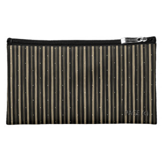 'Circus' Night-Mink-Stripe's-Conservative-Cosmetic Cosmetic Bags