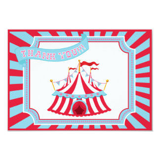 Circus or Carnival Tent - Thank You Cards 9 Cm X 13 Cm Invitation Card
