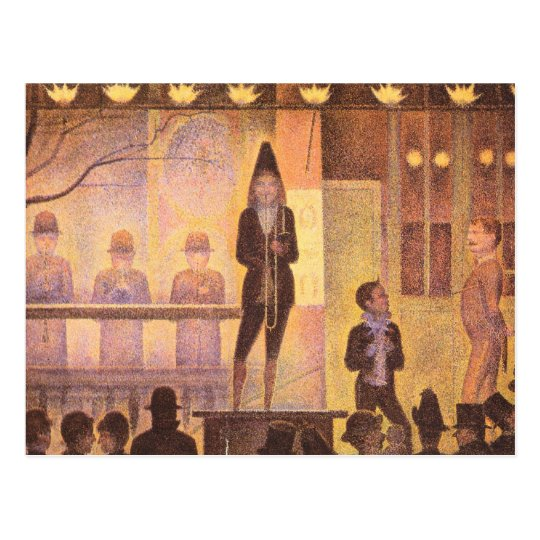 Circus parade by Georges Seurat Postcard