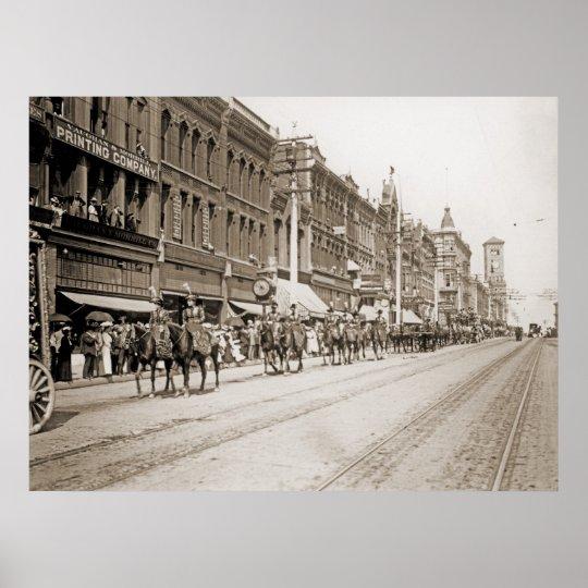 Circus Parade in Tacoma WA circa 1900 Poster