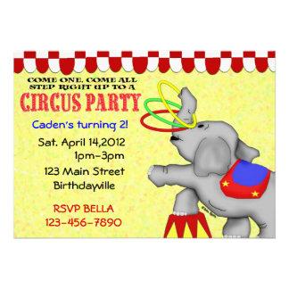 Circus Party Custom Invites