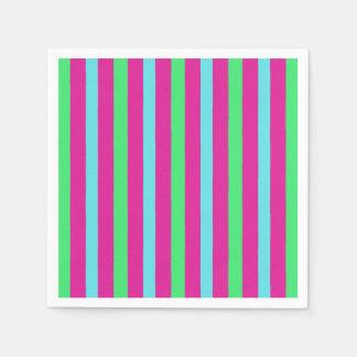 Circus party stripes disposable napkin