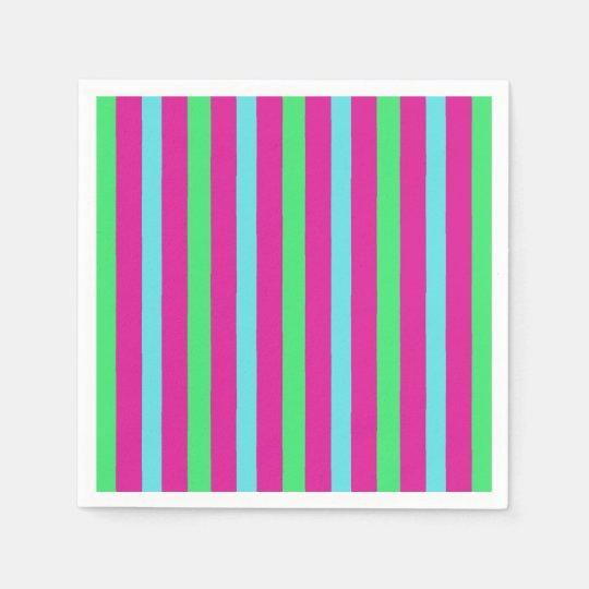 Circus party stripes disposable napkin