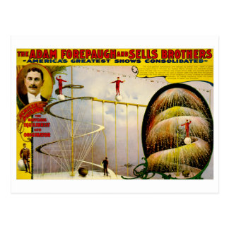 Circus Performance Vintage 1899 Poster Postcard