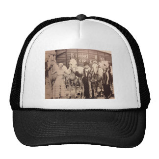 Circus Performers and White Horses Trucker Hats