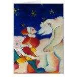 Circus Polar Bears Greeting Card