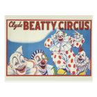 Circus Poster Postcard