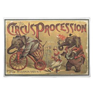 Circus Procession, 1888, vintage Placemat