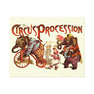 Circus Procession Canvas Print