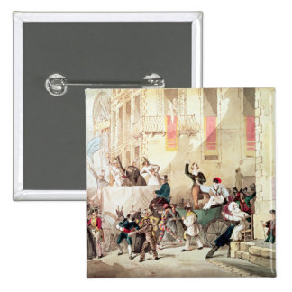 Circus Procession in Italy, 1830 15 Cm Square Badge