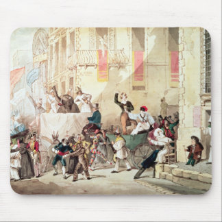 Circus Procession in Italy, 1830 Mouse Mat