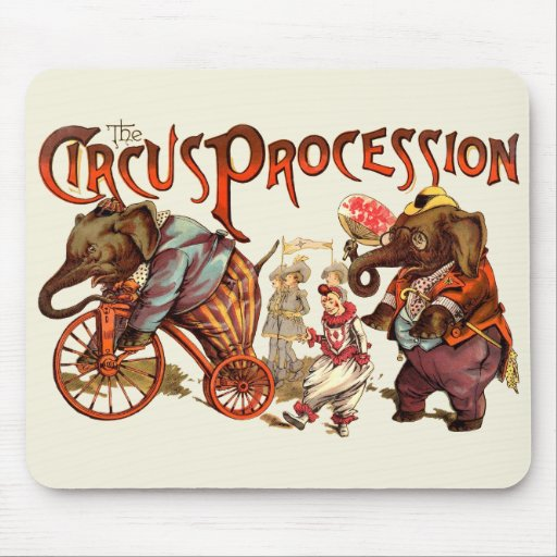 Circus Procession Mouse Pad