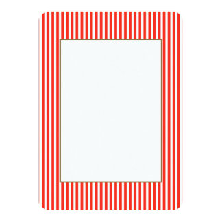 Circus Red and White Cabana Stripes 11 Cm X 16 Cm Invitation Card