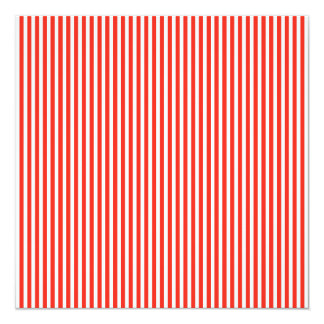 Circus Red and White Cabana Stripes 13 Cm X 13 Cm Square Invitation Card