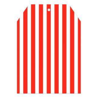 Circus Red and White Cabana Stripes 13 Cm X 18 Cm Invitation Card