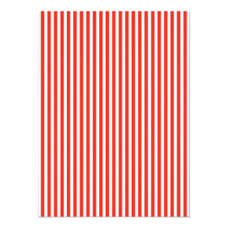 Circus Red and White Cabana Stripes 14 Cm X 19 Cm Invitation Card