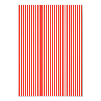 Circus Red and White Cabana Stripes 9 Cm X 13 Cm Invitation Card
