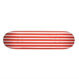 Circus Red and White Cabana Stripes Custom Skate Board