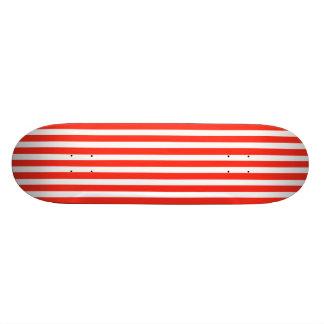Circus Red and White Cabana Stripes Skate Decks
