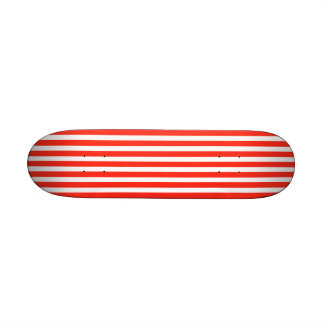 Circus Red and White Cabana Stripes Skate Deck