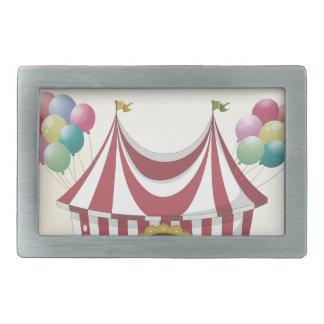 Circus retro poster belt buckle