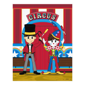 Circus Ringmaster and Clown Flyer