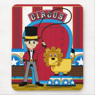 Circus Ringmaster and Lion Mousepad