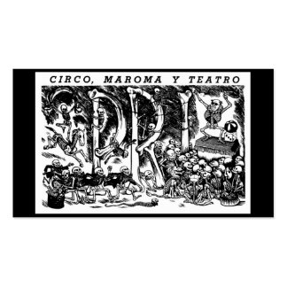 """""""Circus, Rope, and Theatre"""" c. 1951 Mexico Pack Of Standard Business Cards"""