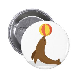 Circus Seal 6 Cm Round Badge