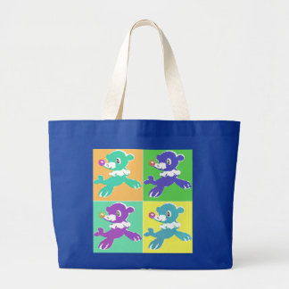 Circus Seal Prints Large Tote Bag