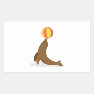 Circus Seal Rectangular Sticker