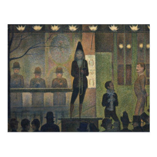 Circus Sideshow by Georges Seurat 1887 Postcard