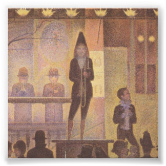 Circus Sideshow by Georges Seurat Photograph