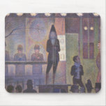 Circus Sideshow by Georges Seurat, Vintage Art Mouse Pad