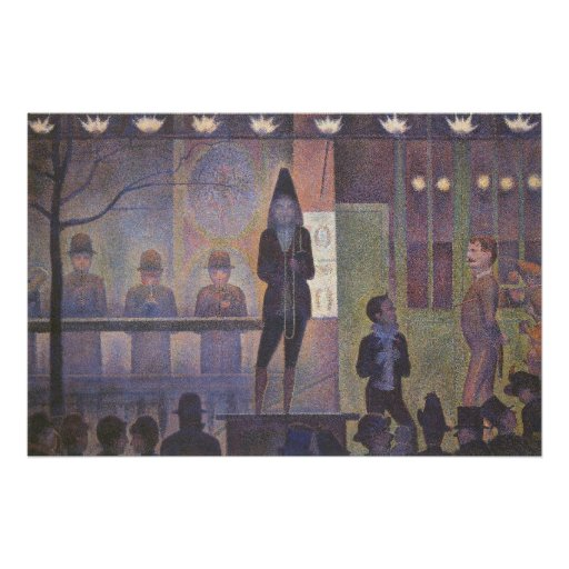 Circus Sideshow by Georges Seurat, Vintage Art Poster