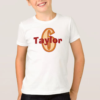 Circus Sixth Birthday Shirt