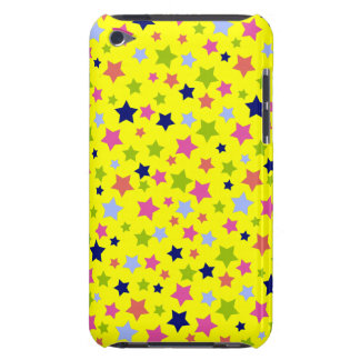 Circus Star Pattern - bright yellow Barely There iPod Cover