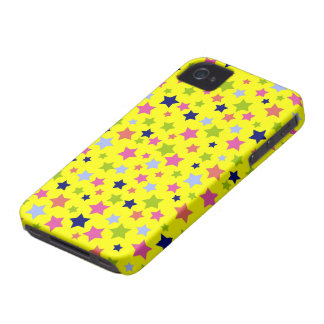 Circus Star Pattern - bright yellow iPhone 4 Case-Mate Case