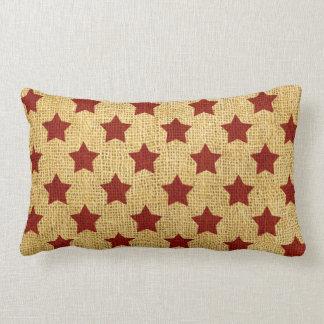 Circus Stars in Rustic Red Lumbar Pillow