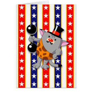 Circus Strong Cat Card