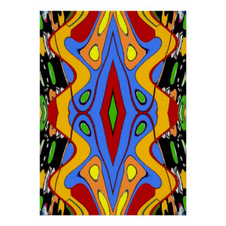 Circus Tent Abstract 2 Poster