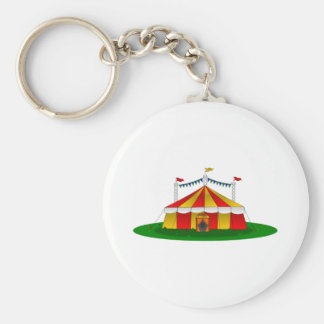 Circus Tent Basic Round Button Key Ring