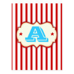 Circus Tent Carnival Make Your Own Custom Banner Postcard