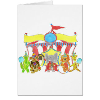 Circus Tent Critters Greeting Card