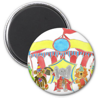 Circus Tent Critters 6 Cm Round Magnet