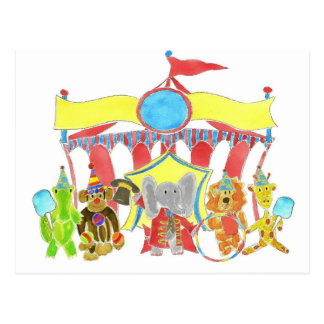 Circus Tent Critters Postcard
