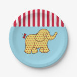 Circus Tent Elephant Paper Plates 7 Inch Paper Plate