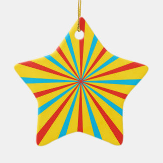Circus Tent Pattern Christmas Ornament