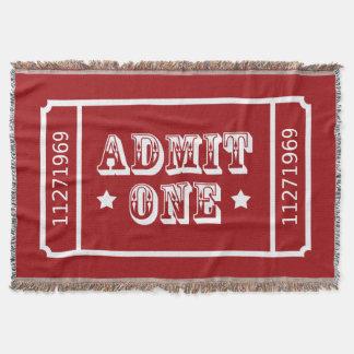 Circus Theatre Movie Ticket Admit One Throw Blanket